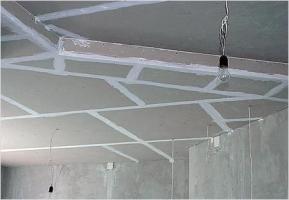 Формы гипсокартонных потолков