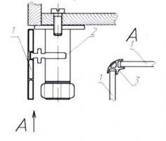 Схема крепления кухонных ножек