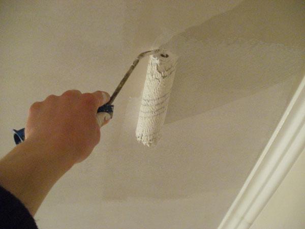 Ремонт потолка была водоэмульсионная