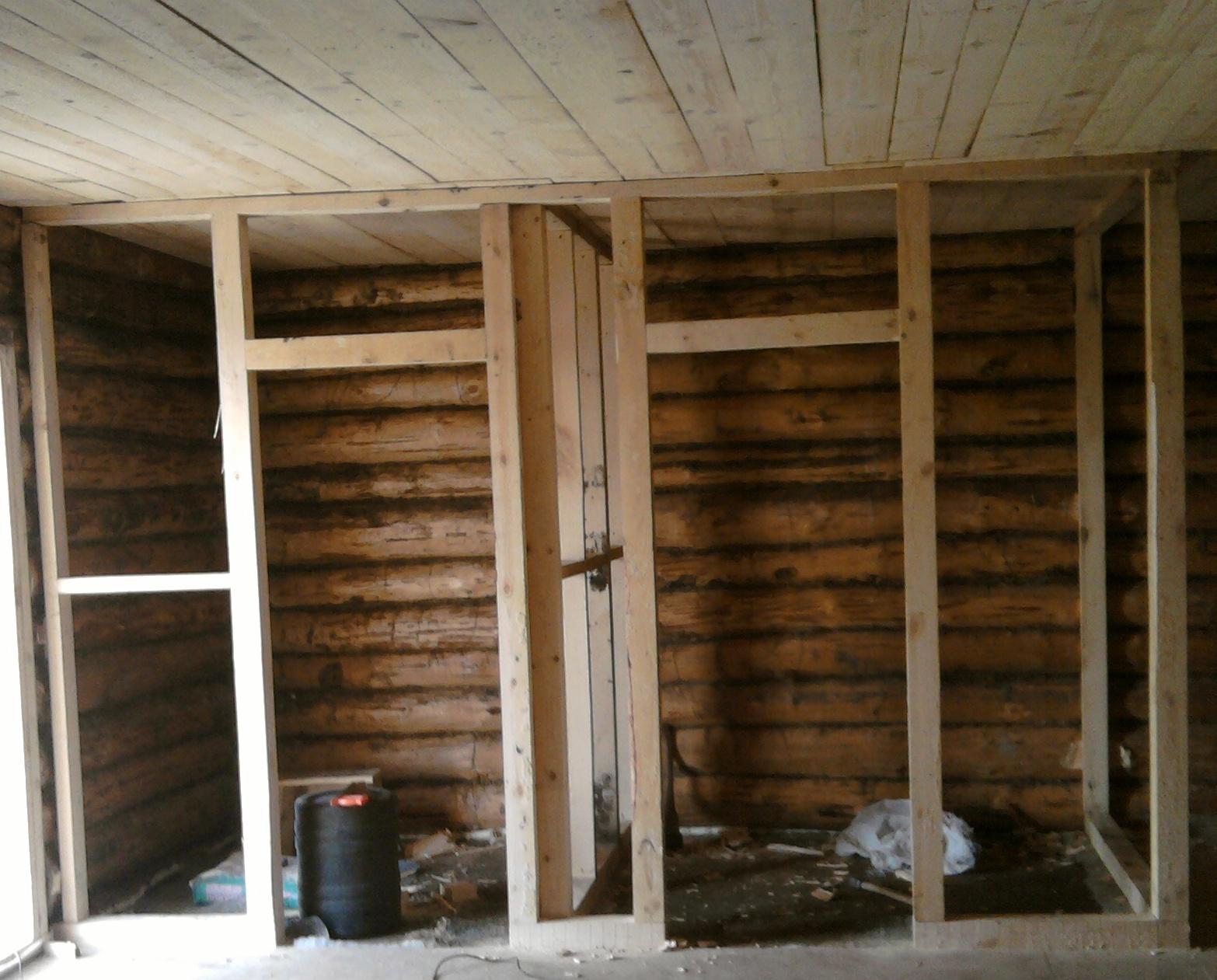 Сделать перегородку в деревянном доме своими руками