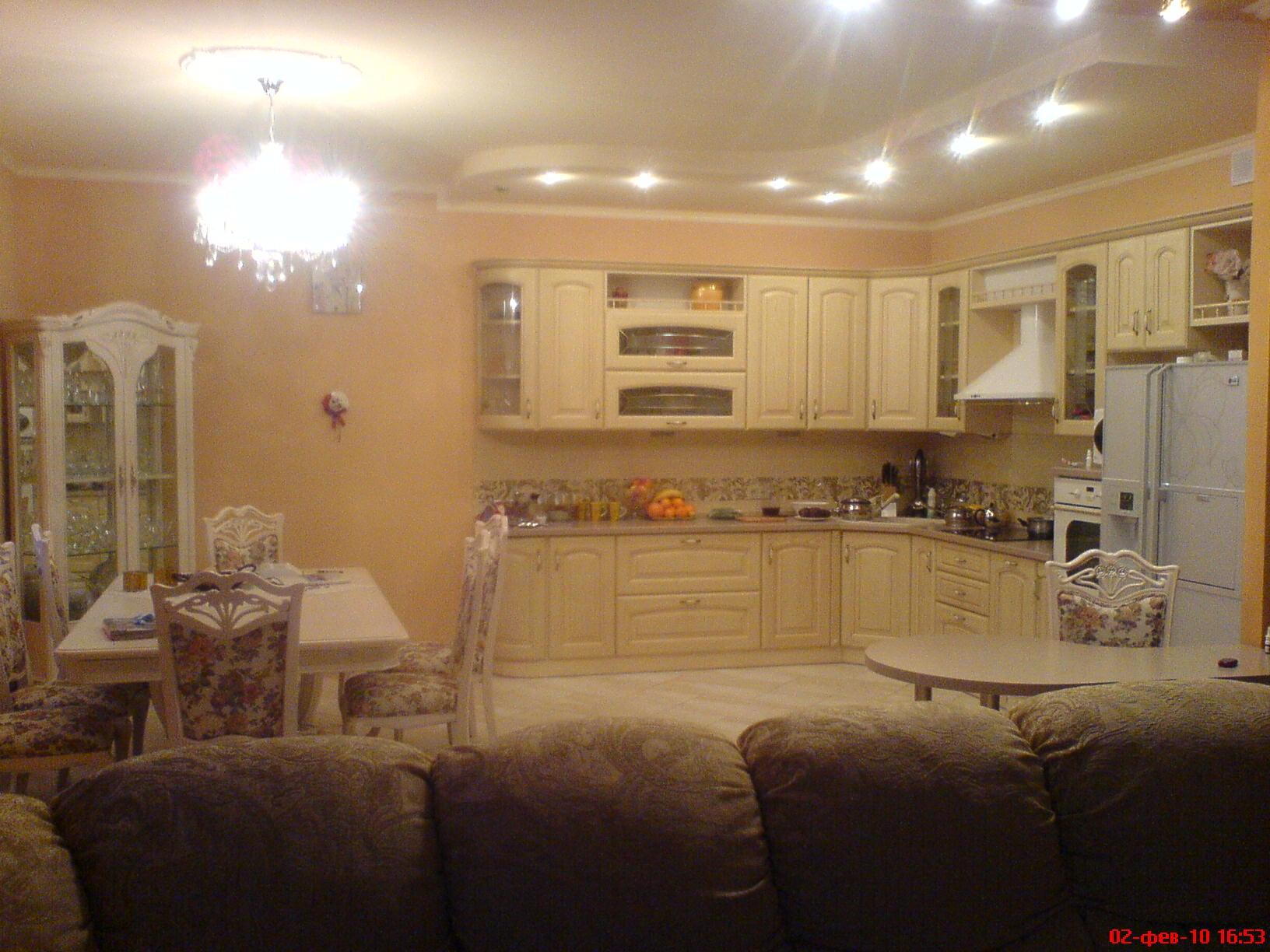 фото зал-кухня