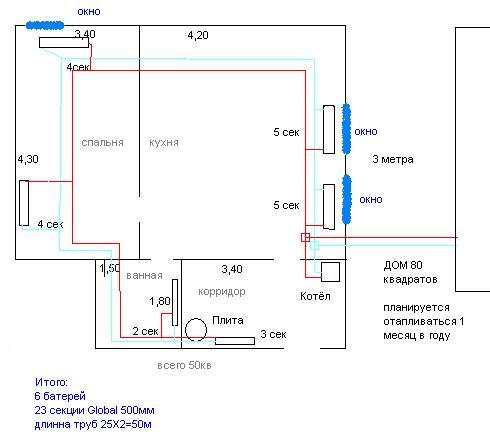 Отопление частного дома своими руками без газа