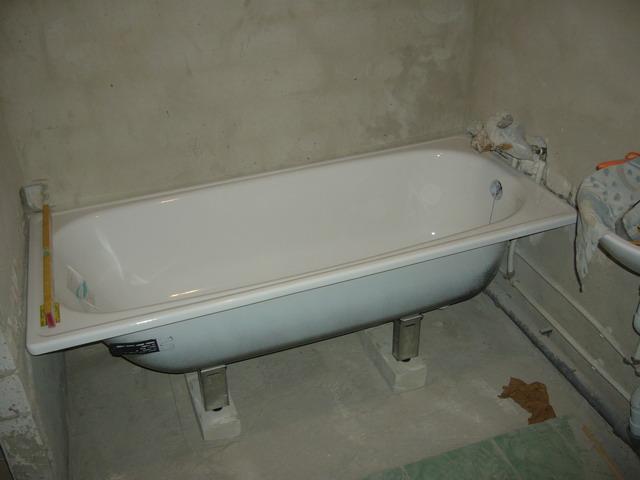 Стальная ванна установка своими руками