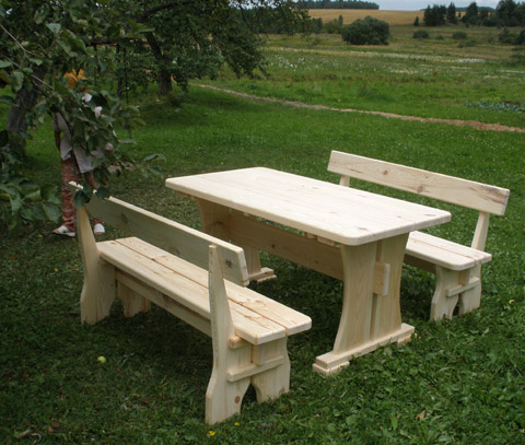 Как сделать своими руками деревянную скамейку