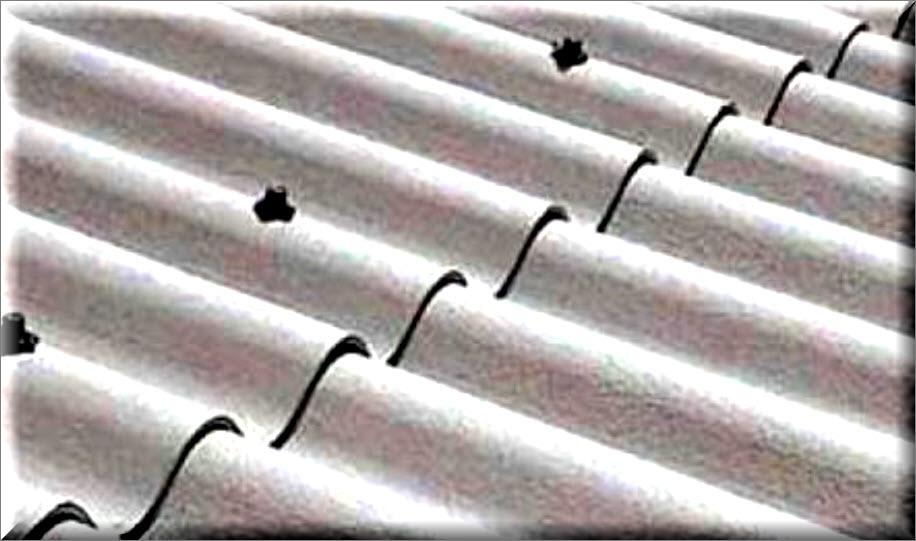 Как и чем заделать трещину в шифере