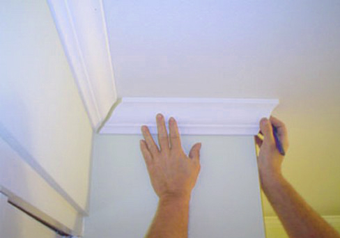 Потолочный плинтус своими руками фото