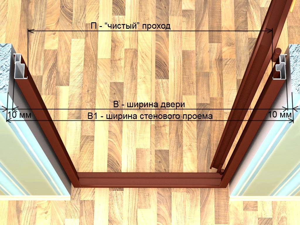 Как вставить межкомнатные двери